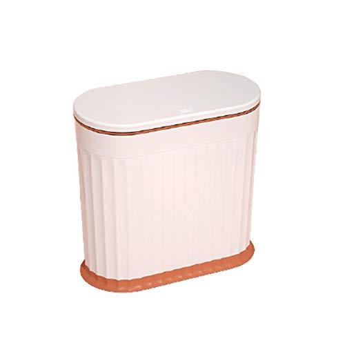 Zrose 12L Cubo de Basura de Ranura Estrecha Papeleras de Plástico Bote de Basura para Oficina Cocina Baño Sala de Estar 33 * 32 * 16CM