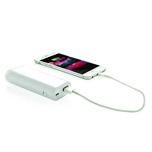 LOOOQS und Taschenlampe Backup-Batterie 5000mAh weiß