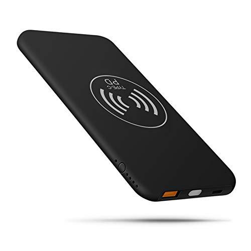 DFHFGH Power Bank 10000mAh Gran Capacidad, Cargadores portátiles, Carga inalámbrica del teléfono, cumplimiento de Las regulaciones de aviación, para Todos los teléfonos Inteligentes-Black