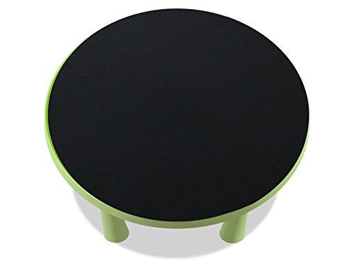 Kreidefolie / Tafelfolie - KF09 - passgenau für den MAMMUT Tisch (rund) von IKEA - Mit wenigen Handgriffen zum bemalbaren Spieltisch für Kinder! (Möbel nicht inklusive!!!)
