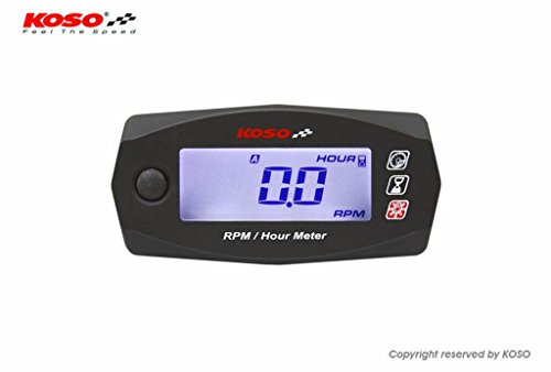 Koso digital RPM & hour meter with backlight