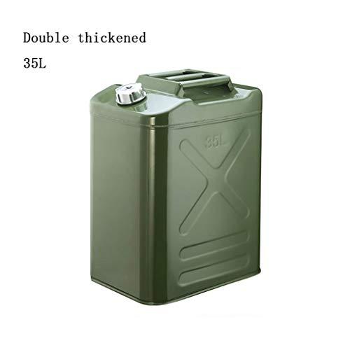 Latas De Gasolina - Contenedor De Gasolina Verde Militar A Prueba De Explosiones Con Boquilla Suave Tanque De Almacenamiento De Diesel Antiestático A Prueba De Explosiones 20L -40L ( Size : 35L )