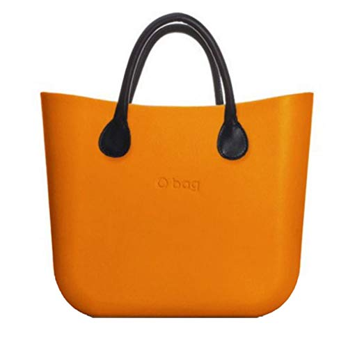 OBAG - Bolso de asas de Caucho para mujer Naranja Arancione 29x28x12cm