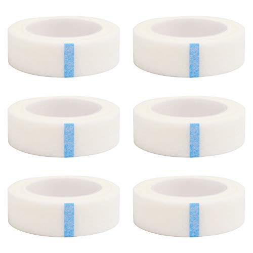 6 Rollen Micropore Wimpern Tape, Wimpern Isolations Klebeband Wimpernband Werkzeuge für einzelne Wimpernverlängerung pflanzt