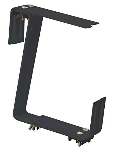 Windhager Blumenkasten-Halter für Brüstungen und Balkongeländer, 2-fach verstellbar, Tragkraft 25 kg, 19 x 17 cm, Anthrazit, 05824, Balkon 2-fach verstellbar