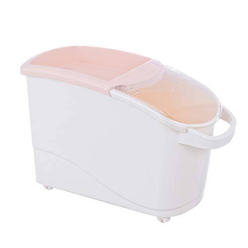 LuoKe Reis Vorratsbehälter 12.5 KG Reis Vorratsbehälter Reiskübel Kreative Riemenscheiben Reisbehälter mit Messbecher für die Küche, 47 * 23 * 30.5cm
