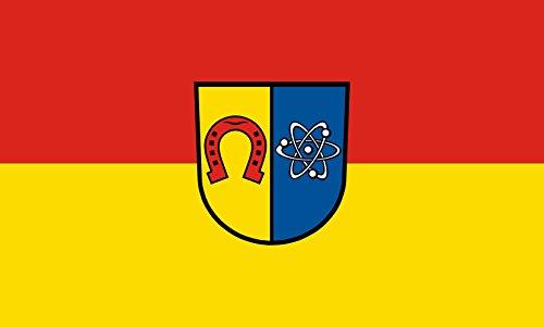 Unbekannt magFlags Tisch-Fahne/Tisch-Flagge: Eggenstein-Leopoldshafen 15x25cm inkl. Tisch-Ständer