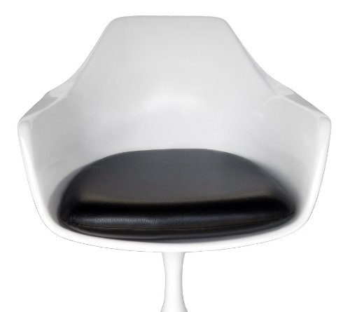 Premium Black Vinyl Replacement Cushion for Tulip Arm Chair - Saarinen or Burke