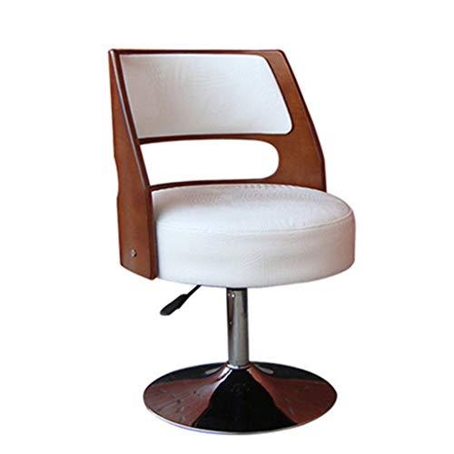 YCDJCS Silla de elevación giratoria Sillón Bar Recepción del cajero silla giratoria de madera Mesa de comedor del restaurante principal suministra los regalos ( Color : Blanco , Size : 47*51*45cm )