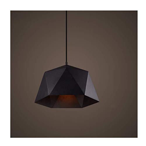 HLY Luces simples, lámpara de luz, hierro forjado de una sola cabeza 27 * 1 fuente de luz decorativa, tienda de ropa nostálgica retro pasillo del restaurante