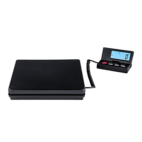 Steinberg Systems SBS-PT-50/2 Paketwaage Plattformwaage Digitalwaage (50 kg / 2g, 24,5 x 24,5 cm, Externes LCD DIsplay, inkl. Adapter) Schwarz