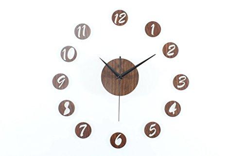 BiuTeFang Hout Klokken DIY Muur Klok mode creatieve combinatie klok DIY muur stickers bel rustig
