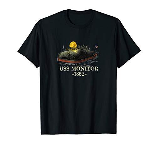 Naval History American Civil War USS Monitor Ironclad Ship T-Shirt