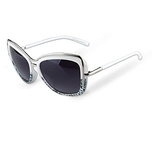 yui Gafas de sol para mujer, ojo de gato, gafas de sol, color negro, blanco, para mujer, ojo de gato, moda para mujer, sombras, gafas de bloqueo del sol, color (Lenses Color: Blanco)