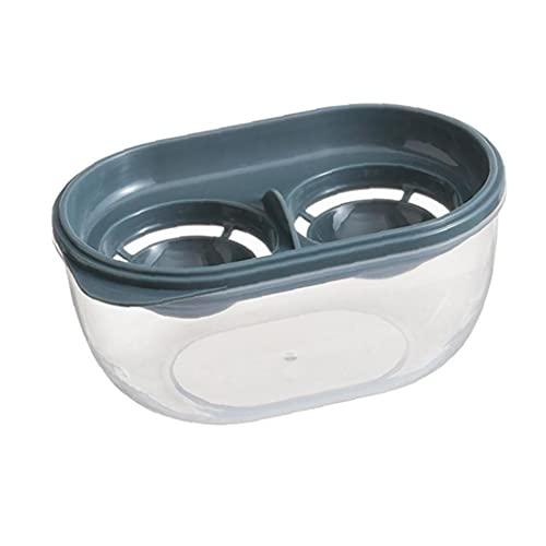 Clara de huevo separador de yema de huevo de filtración Extractor caja de huevos división de la herramienta de gran capacidad plástica hornear Asistente Domésticos de Cocina Gadget Azul