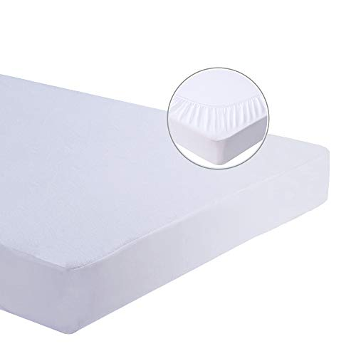 Bedecor Extra Deep Terry Towel Waterproof Mattress Protector Cover Breathable Anti Dustmite Bacterial Non Noisy - Super King (180x190/200cm)