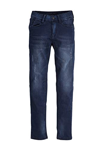 s.Oliver RED LABEL Jungen Skinny Seattle: Cordhose im Used-Look blue 164.REG