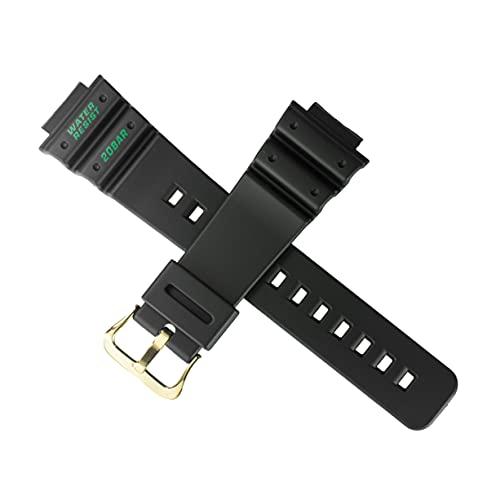 Cinturino per orologio Casio DW-5900TH DW 5900TH 5900 NERO ORO FIBBIA