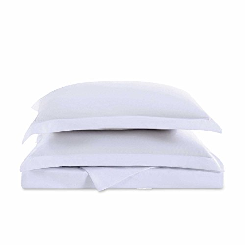 "Cozy Comfort Bedding Super King California King Oversized 3 Piece Duvet Cover Set (120"" x 98"") (White)"