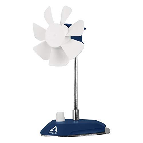 ARCTIC Breeze USB Tischventilator mit flexiblem Hals und einstellbarer Drehzahl, 800-1800 U/min, dunkelblau