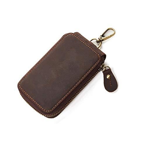 YXSMQC Autosleutel tas lederen heren sleutelhanger portemonnee
