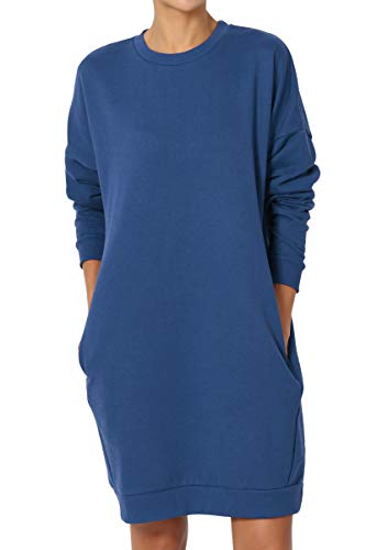 TheMogan Casual Oversized Crew Or V-Neck Sweatshirts Loose Fit Pullover Tunic S~3XL