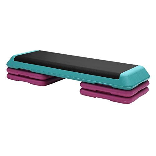 Aerobic Stepper Steppbrett 3 Ebene, Höhenverstellbar Fitness Yoga Tafel Multifunktion Schritt Plattform Übung Block Fett Verbrennung Fitnessstudio (Color : Green)