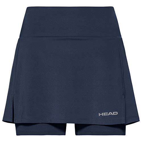 HEAD Damen Skirts Club Basic Skort Long W, dunkelblau,814539-DB M