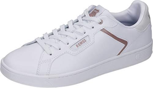 K-Swiss Damen CLEAN Court II CMF Sneaker, Weiß (White/Rose Gold 188), 36 EU