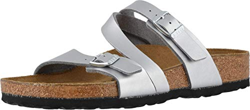 Birkenstock Salina Silver Sea Birko-Flor 38 (US Women's 7-7.5) Regular
