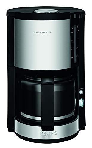 Krups Proaroma Plus Filterkaffeemaschine KM3210 | 10 Tassen | 1100 Watt | Schwarz mit Edelstahlapplikationen