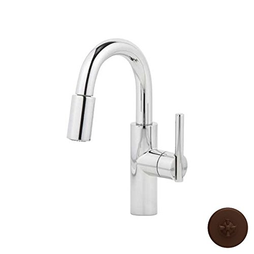 Find Discount Newport Brass 1500-5203/ORB East Linear Pullout Spray High-Arc Bar Faucet, Hand Relieved Oil Rubbed Bronze