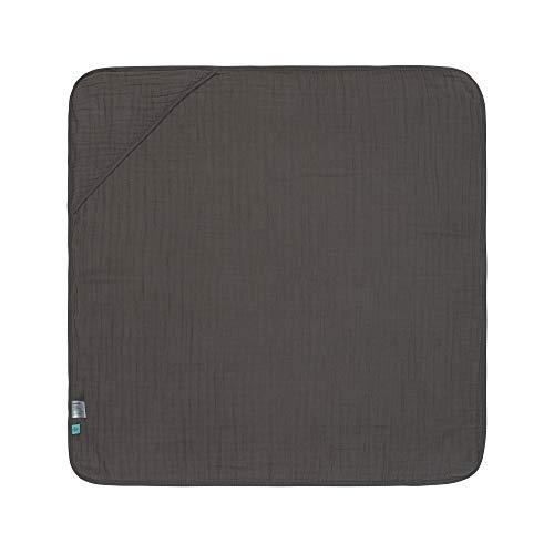 LÄSSIG Kinder Kapuzenhandtuch Baumwolle 90 x 90 cm/Hooded Towel anthracite