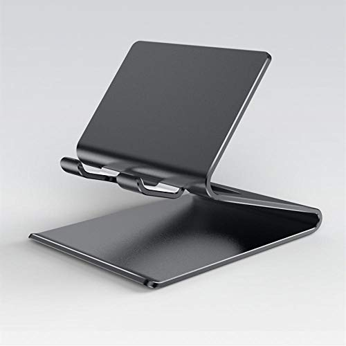 NOBRAND Soporte para teléfono móvil Soporte de aleación de Aluminio de Metal Soporte Universal para teléfono móvil de Escritorio Soporte Multifuncional para Tableta de teléfono móvil Lazy Live Negro