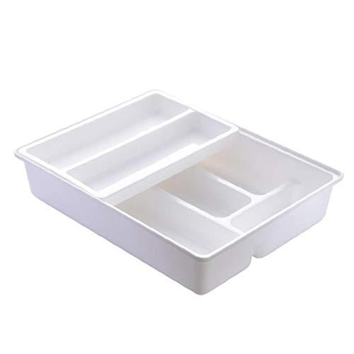 Nicetruc Bandeja Cubiertos cajón de la Cocina divisores, Corredera de 2-Tier plástico gaveta Organizador para Utensilios