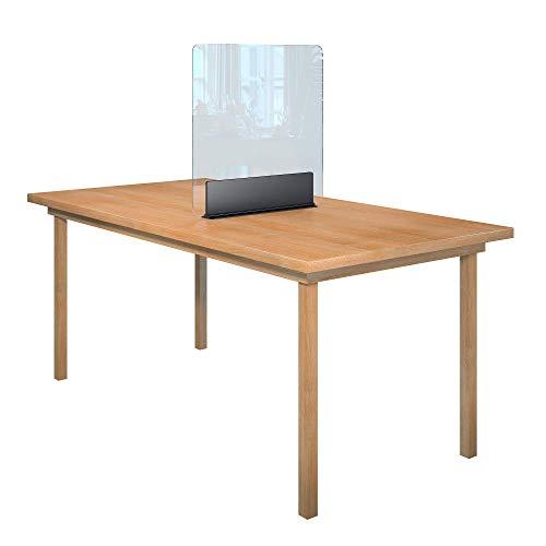 Rulopak Glastrennwand Plexiglas Acrylglas klar Aufsteller Tisch Metall, Trenner, Trennwand, Spuckschutz, Glas (B 60 cm x H 61,6 cm)