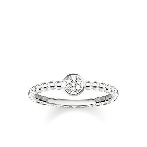 Thomas Sabo Glam & Soul Damesring, 925 sterling zilver, diamant pavé, wit, maat 56 (17.8) D_TR0004-725-14-56