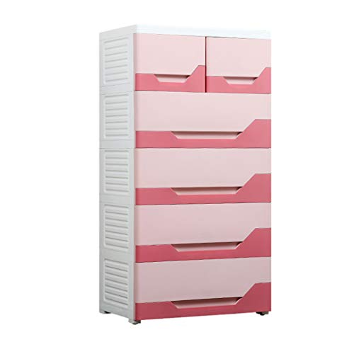 Zzg-2 Large Storage Box, Hall Assembly Plastic Locker Living Room Multi-Layer Multifunction Chest of Drawers, 5840113CM (Color : Pink)