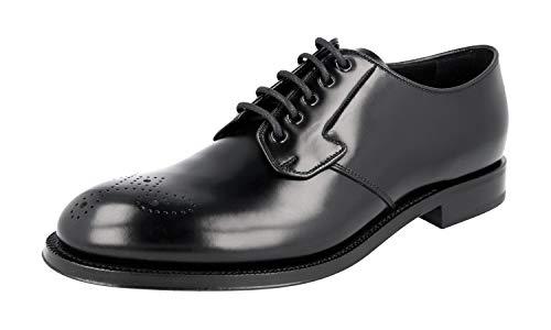 Prada Herren Schwarz Budspester Leder Business Schuhe PCU010 43 EU/UK 9