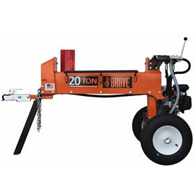 Brave 20-Ton Horizontal Dual-Action Gas Log Splitter - PCLS2013GC