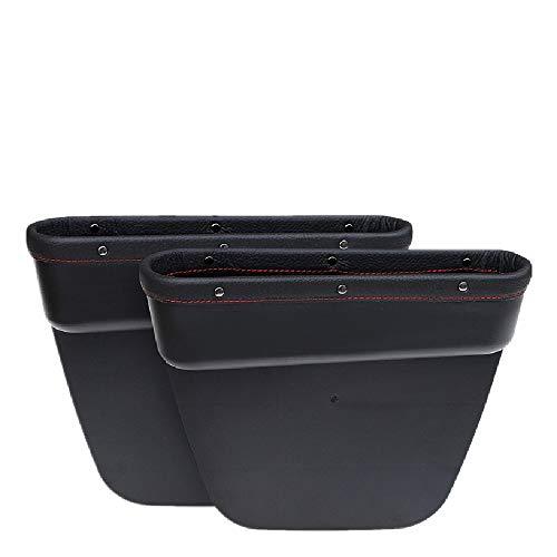 Left and Right Auto Seat Gap Organizer Storage Box Organizador de bolsillo lateral de caja de almacenamiento de consola - caja de espacio de relleno de asiento de automóvil Multifunctional Seat Crevic
