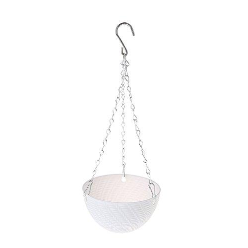 Fogun Runder Blumentopf aus Kunststoff zum Aufhängen, Pflanzenkette, Dekoration