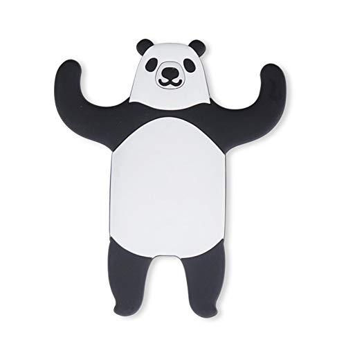 dingtian Ganchos para llaves con diseño de animales encantadores para pared de cocina, decoración del hogar, diseño de panda
