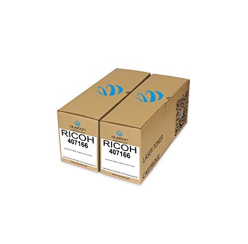 2X 407166 Toner negro regenerado Duston compatible con impresoras Ricoh SP100E SP100SFE SP100SUE SP112SF SP112SU