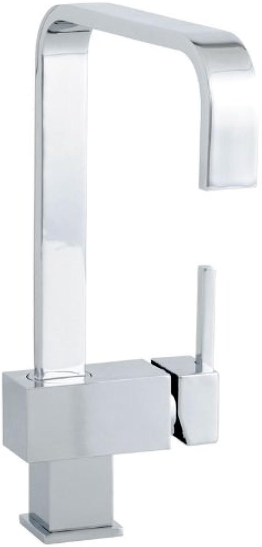 Küchenarmatur Einhebel Spültischarmatur in Chrom Küchen Armatur Quadrat-Design (2931)