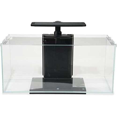 JBJ Rimless Desktop 10 Gallon Flat Panel Aquarium w/LED Light (RL-10-FP), Clear