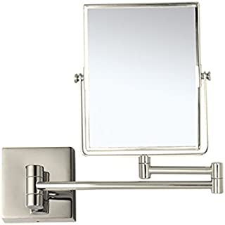 Nameeks AR7721-SNI-3x Glimmer Double Face 3x Magnification Wall Mounted Makeup Mirror, Satin Nickel