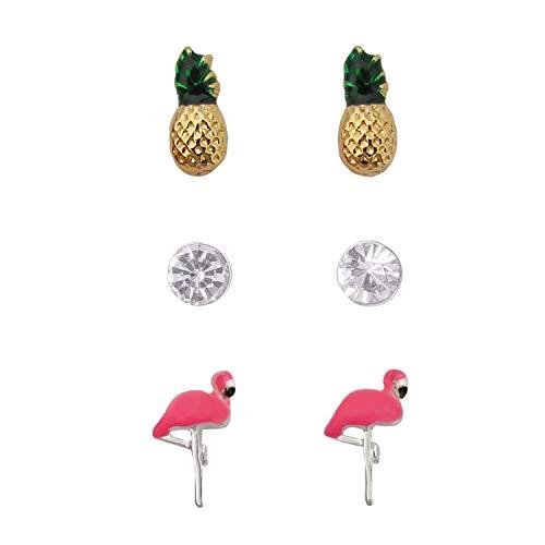 emoji Conjunto de pendientes de flamenco tropical