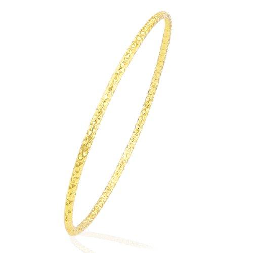 Citerna Damen-Armreif 9 Karat 375 Gelbgold Diamantschliff 6, 5cm RIB1301Y