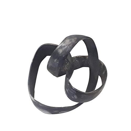 Sagebrook Home 14585-03 Aluminum Knot Sculpture, 7', Black